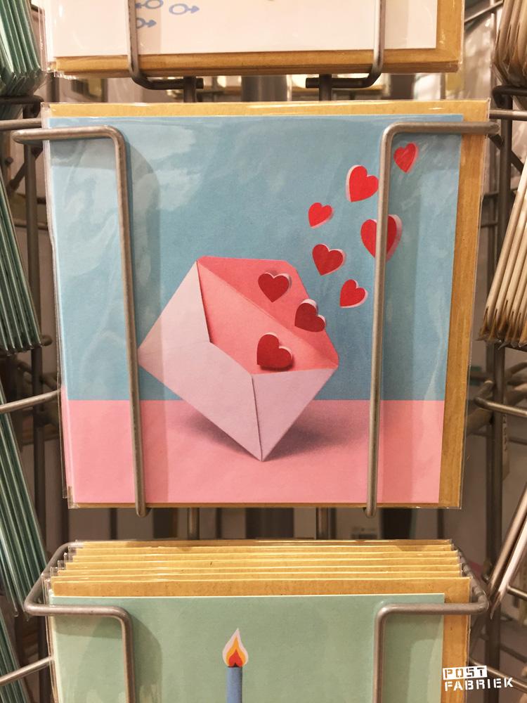 Liefde per post, een leuk kaartje van HEMA