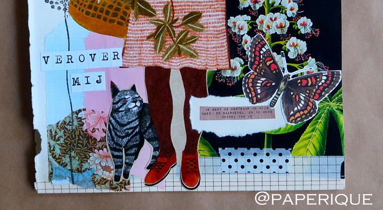 Detail collage van Paperique voor het Zusterhood-project