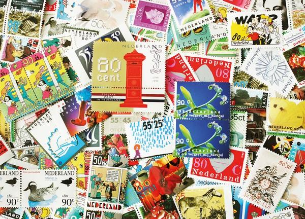 Kaart met prachtige postzegels van happy-postcrossing