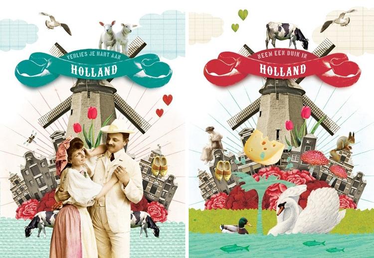 Groeten uit Holland met de leuke kaartjes van Pimpelmees