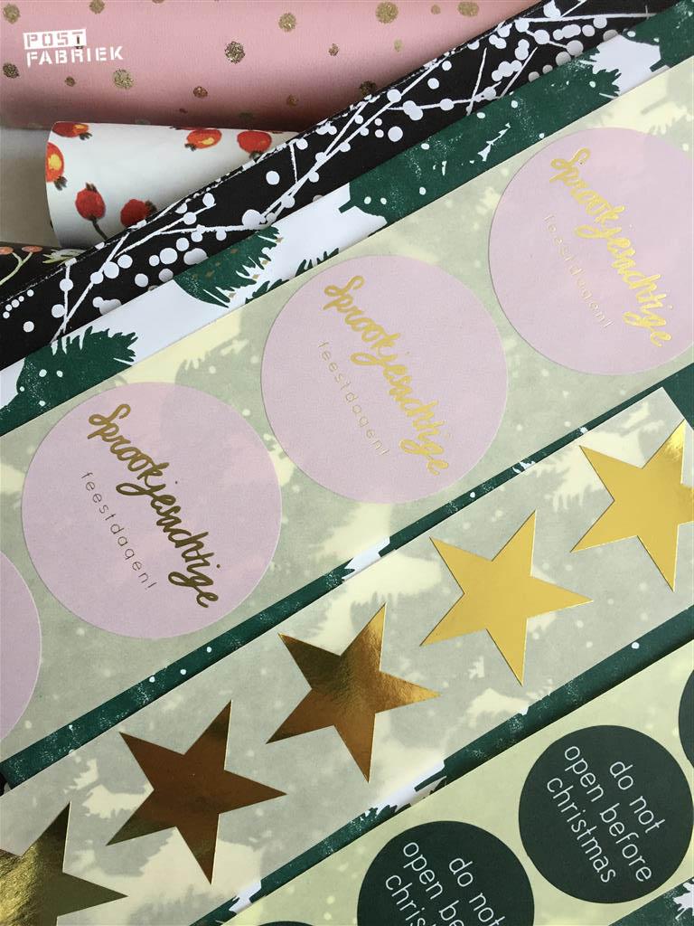 Stickers uit de nieuwe feestdagen collectie van Vlinders in je buik