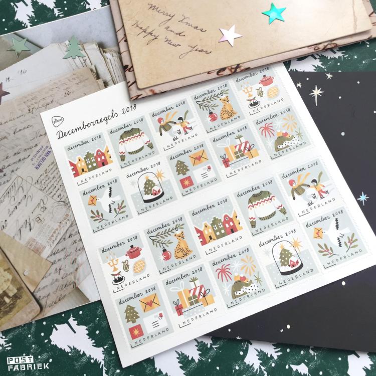 De decemberzegels van PostNL