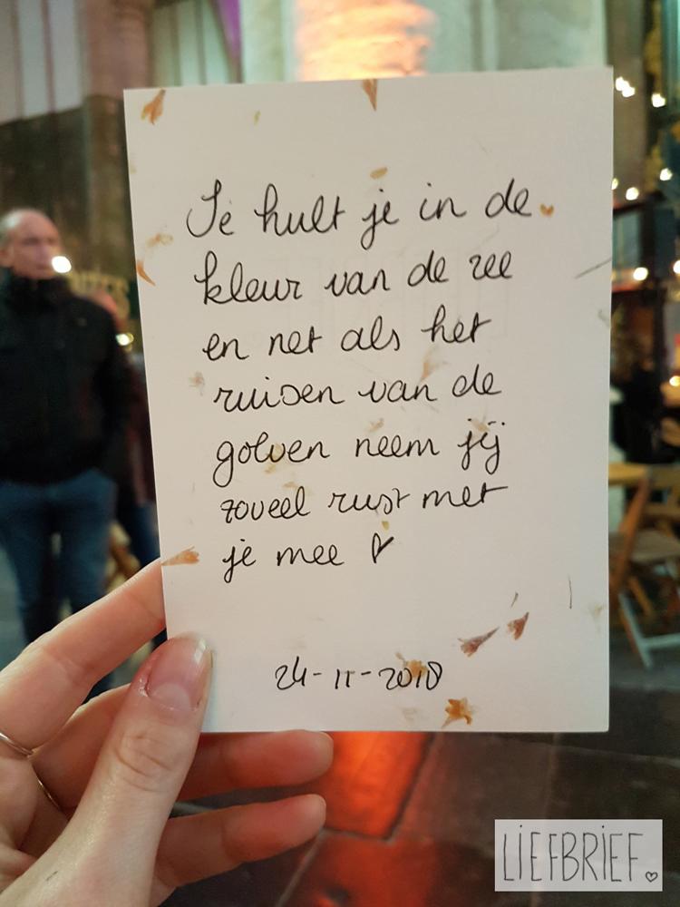 Een lief briefje, geschreven door Linda Blij van Liefbrief.nl