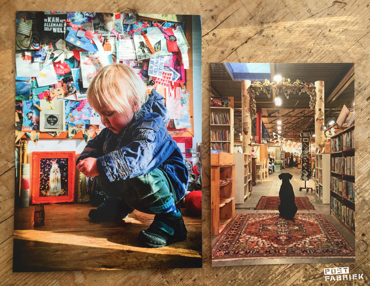 Ansichtkaart XL en ansichtkaart medium met mijn eigen foto's