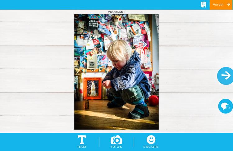 De voorkant van mijn fotokaart met de kaartservice van Greetz