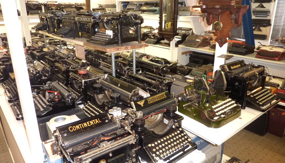 Binnen in het schrijfmachinemuseum van Ryk van Dijk!