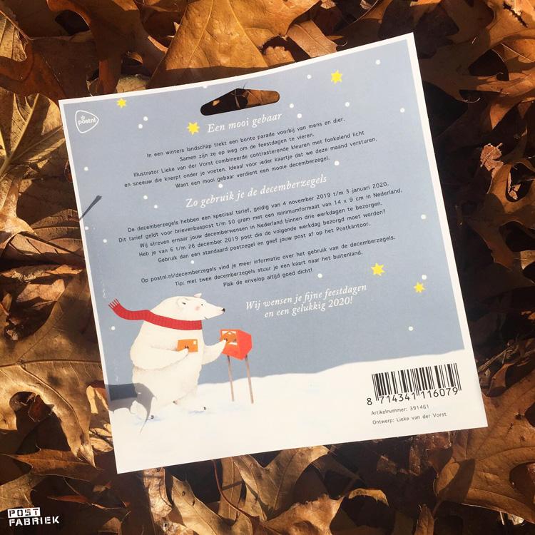 Op de achterkant van het velletje decemberzegels staat beschreven hoe je deze zegels mag gebruiken