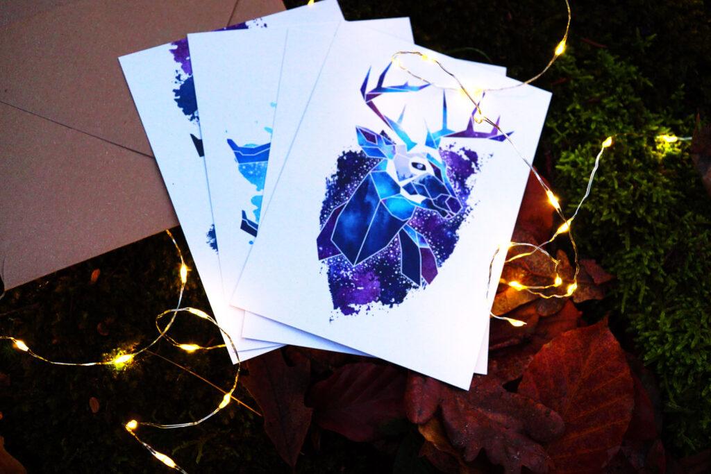 Winter Solstice kaarten van Studio Sarie voorkant
