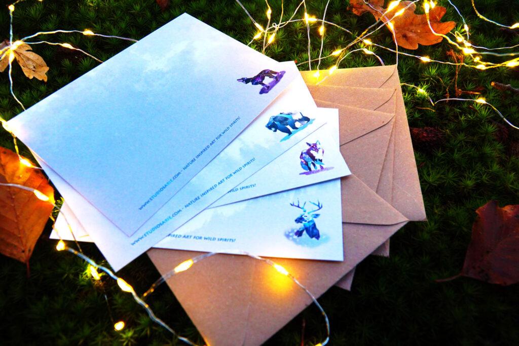 Winter Solstice kaarten van Studio Sarie achterkant