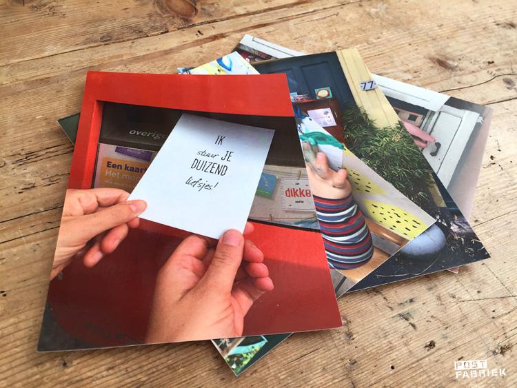 Kaarten met eigen foto's via Greetz