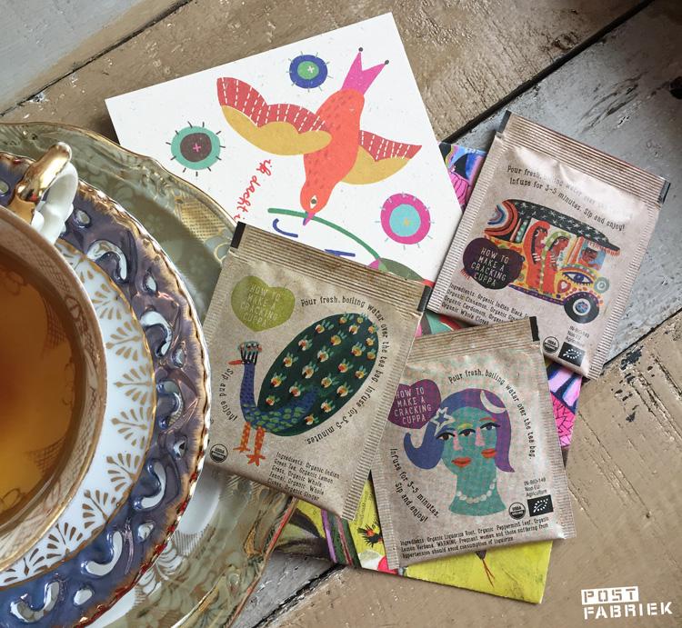 Drie verschillende prachtige theezakjes van Ministry of Tea