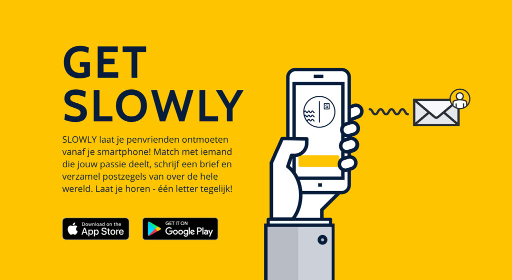 Get Slowly! Deze app laat je penvrienden ontmoeten vanaf je smartphone! Match met iemand die jouw passie deelt, schrijf een brief en verzamel postzegels van over de hele wereld. Laat je horen - één letter tegelijk!