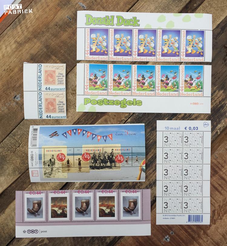 Als je euro-postzegels via PostzegelsMetKorting koopt, krijg je verschillende postzegels met korting,