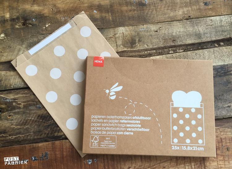 Papieren boterhamzakjes van HEMA