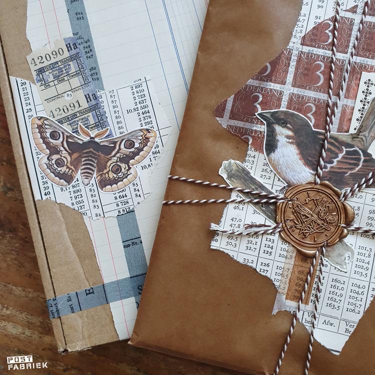 Inspiratie: twee pakjes prachtig verpakte cadeautjes. Hier zijn onze printables ook voor gebruikt