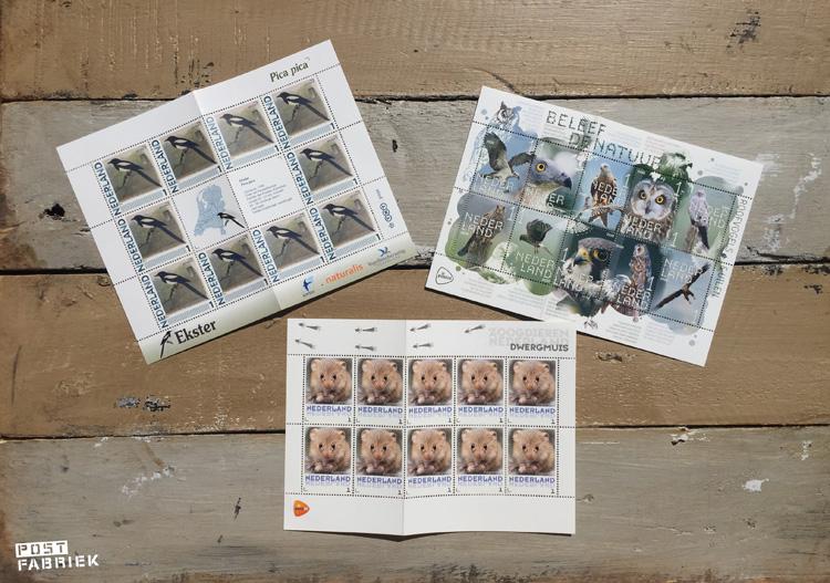 De verschillende postzegels die ik kocht bij postzegelsmetkorting.nl