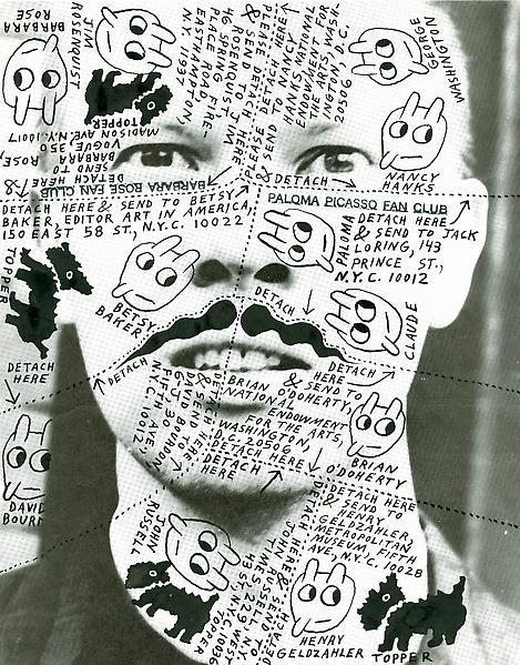 Mail art van Ray Johnson, foto via Ray Johnson Estate.