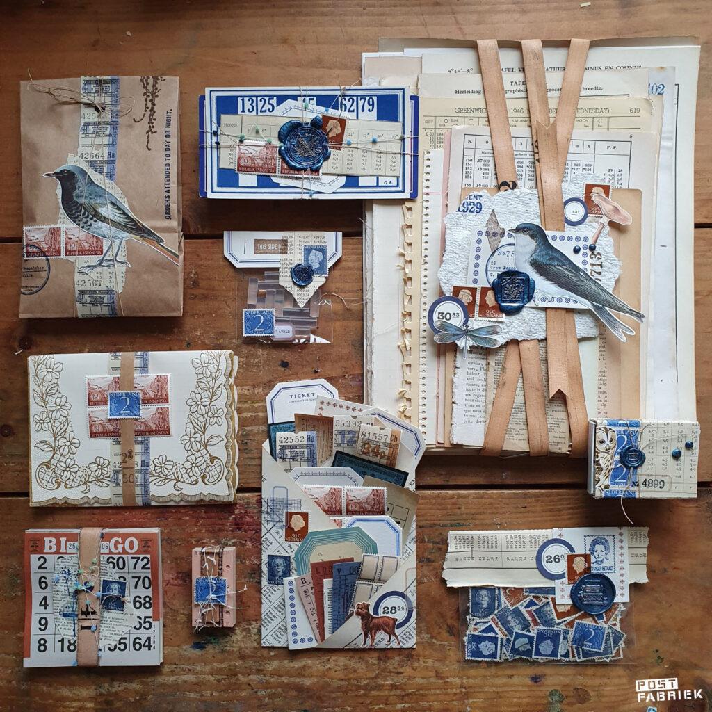 papierpakket blauw