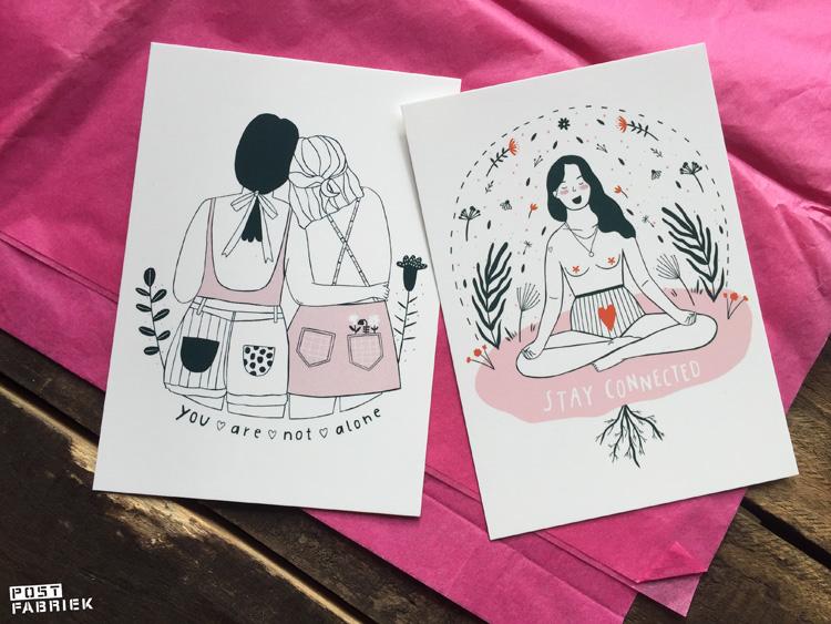 Twee kaarten uit mijn bestelling bij Hartje Mezelf. Beide kaarten zijn ontworpen door Notietzblock.