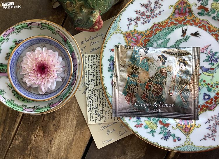 In dit prachtig verpakt Newby piramide theezakje zit gember & limoen thee. Your Daily Tea Cup verkoopt deze theetjes per stuk. Ik stuur dit soort bijzondere theetjes graag mee met een kaartje.