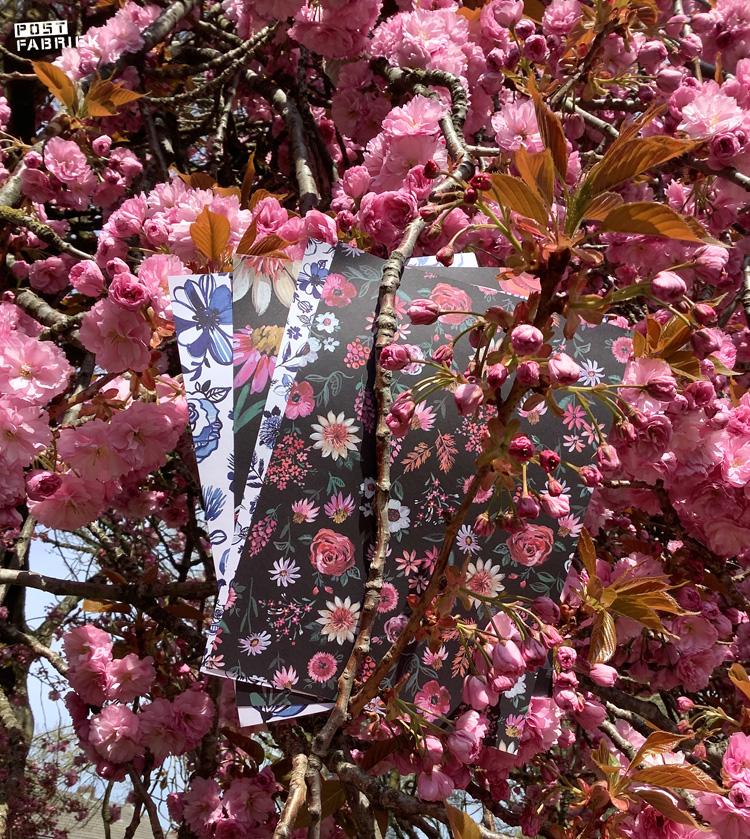 Pagina's uit het Flow Paper Book for Nature Lovers met patronen van Jennifer Orkin Lewis. De pagina's zijn aan beide kanten bedrukt.