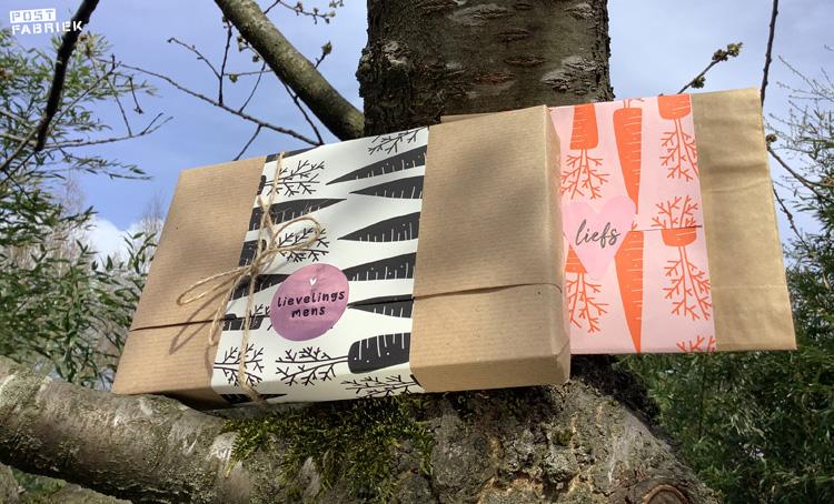Pakjes met het prachtige Waanzinnige Wortels papier van Vlinders in je Buik.